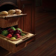 Wicker Basket Cabinet