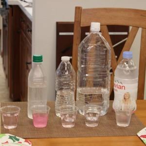 水道水はDPD 試薬を入れると塩素に反応してピンクに変色しました