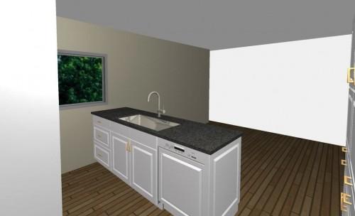 すっきりデザインのペニンシュラ型キッチン