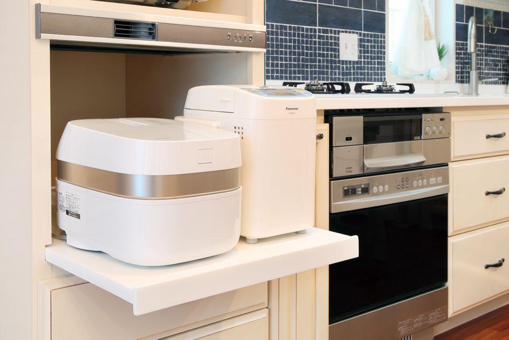 炊飯器は意外と置き場に困る家電製品のひとつ。