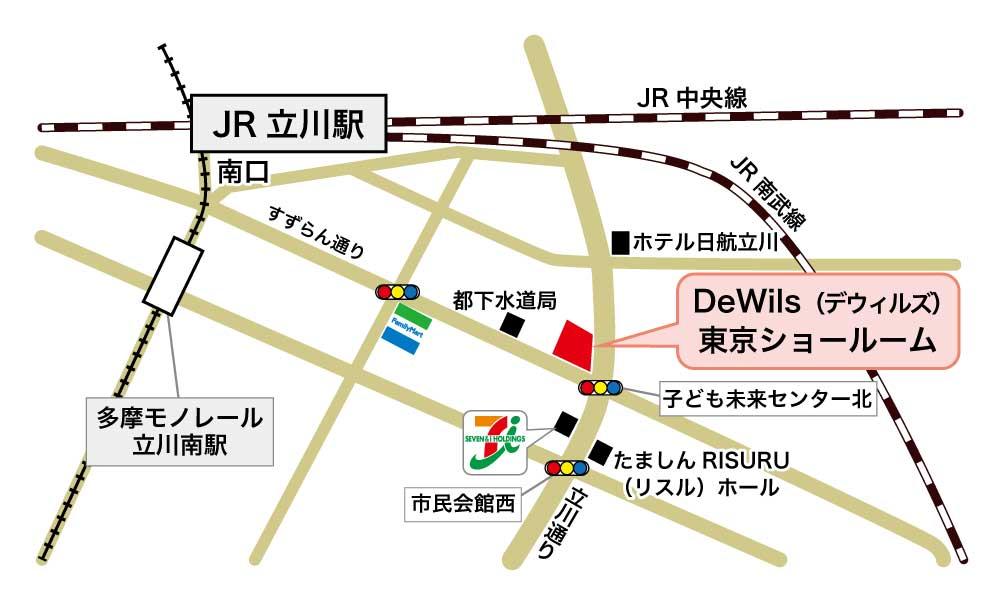 東京ショールームMAP